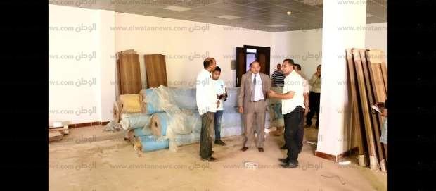 رئيس جامعة بني سويف يتفقد أعمال صيانة المدن الجامعية