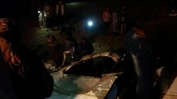 """الإسعاف تدفع بـ7 سيارات لنقل مصابي ووفيات حادث """"صحراوي بني سويف"""""""