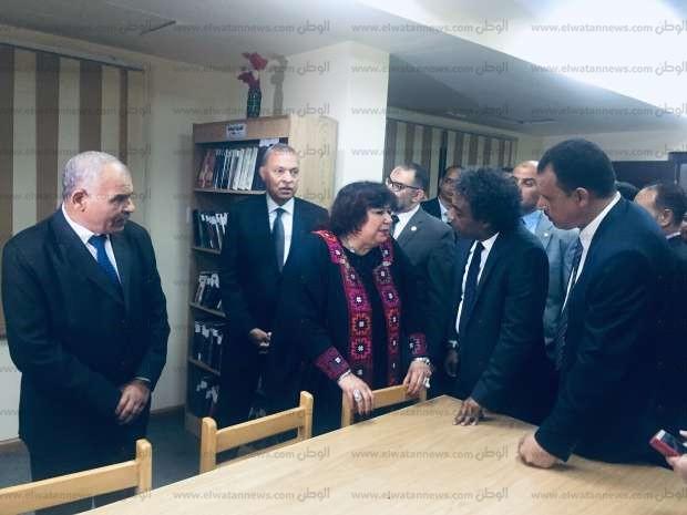 وزيرة الثقافة تفتتح قصر ثقافة قنا بعد تطويره بتكلفة 60 مليون جنيه