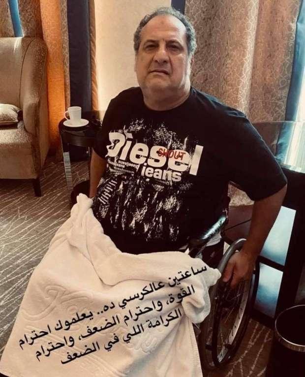 خالد الصاوي لـ«الوطن» بعد ظهوره على كرسي متحرك: «أنا تعبان» - فن وثقافة - الوطن