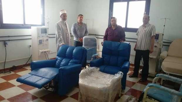 مسجد عمر بن عبدالعزيز  يهدي مستشفى بني سويف أجهزة طبية بـ300 ألف جنيه