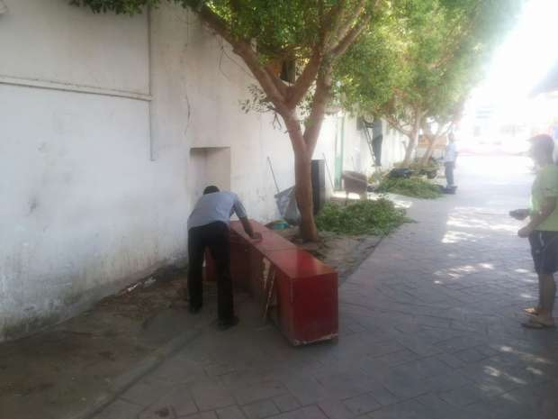 بالصور : استكمال ازالة المخالفات وأعمال التجميل بقطاع خليج نعمة فى شرم الشيخ