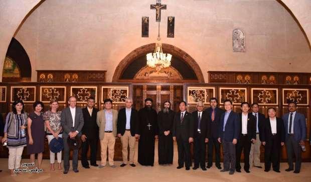بالصور| البابا يستقبل سفراء الدول الآسيوية في دير الأنبا بيشوي