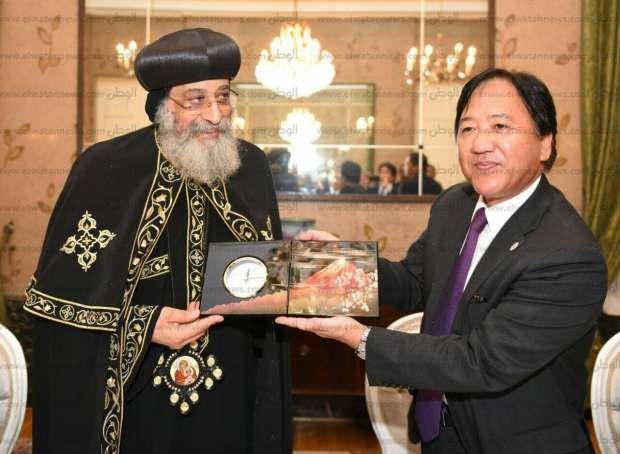 """بالصور  البابا تواضروس يتحدث لسفراء آسيا في القاهرة عن """"مصر والكنيسة"""""""