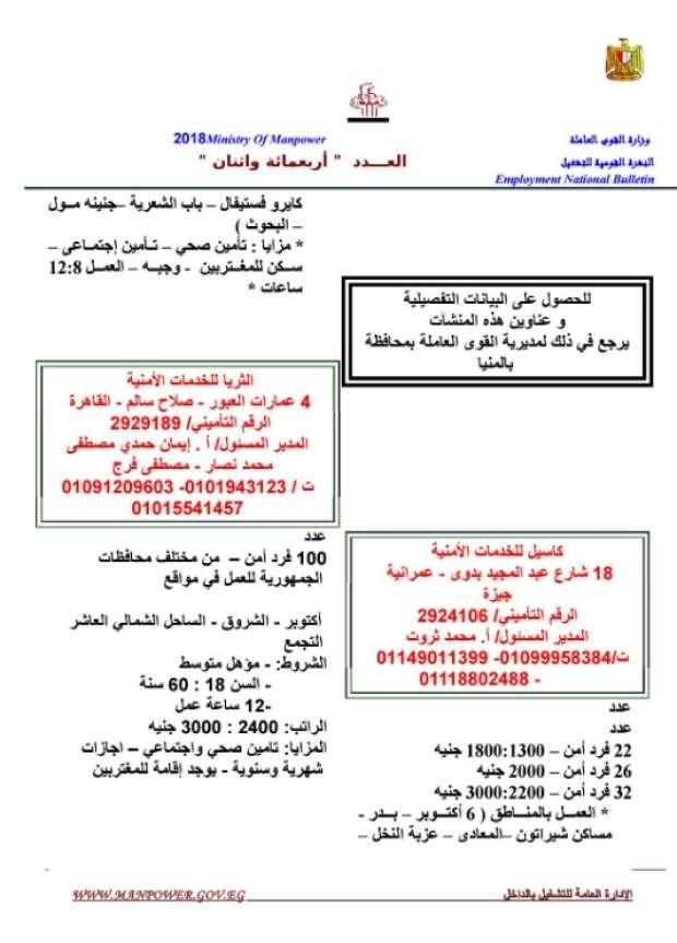 مرتبات تصل لـ 8 الآف جنيه.. الحكومة تعلن عن 11 ألف وظيفة شاغرة للشباب بمختلف المؤهلات 15