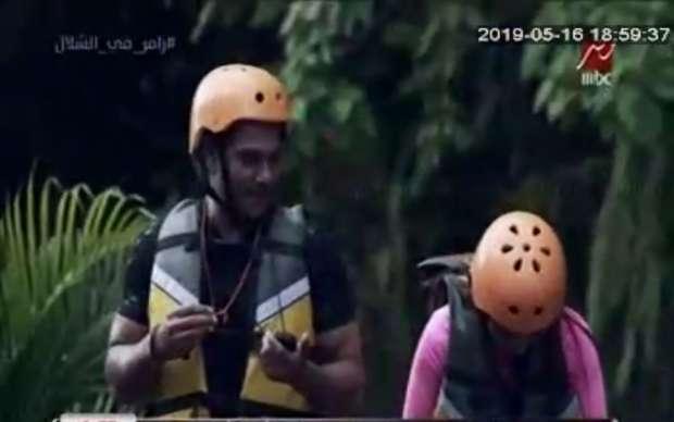 آسر ياسين يقع ضحية رامز في الشلال: هنجوزك الفيلة - رمضان ...