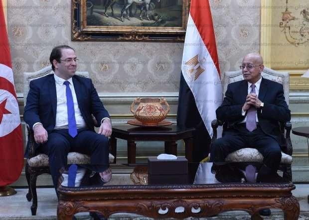 رئيس الوزراء يستقبل نظيره التونسي