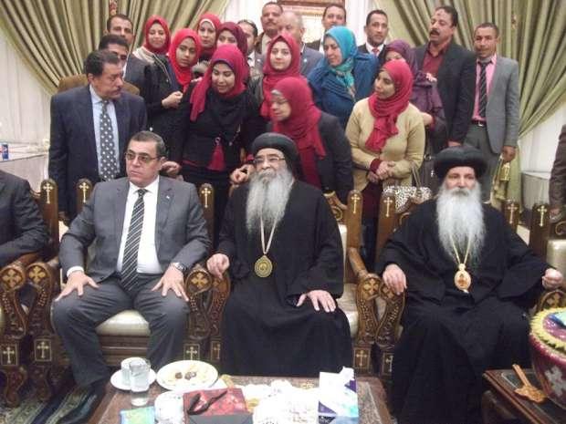 زيارة محافظ الفيوم لدير الأنبا إبرام لتقديم التهنئة بعيد الميلاد