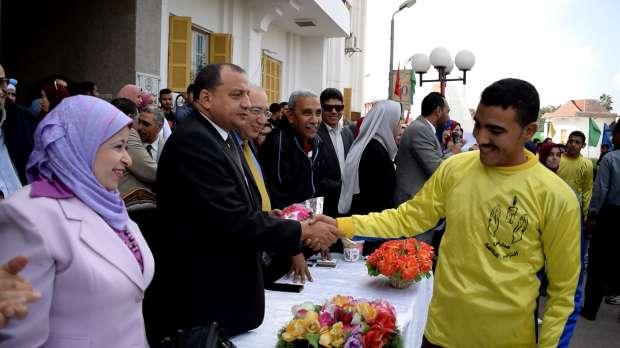 بالصور| رئيس جامعة بني سويف يشهد احتفالات اليوم العالمي للإعاقة