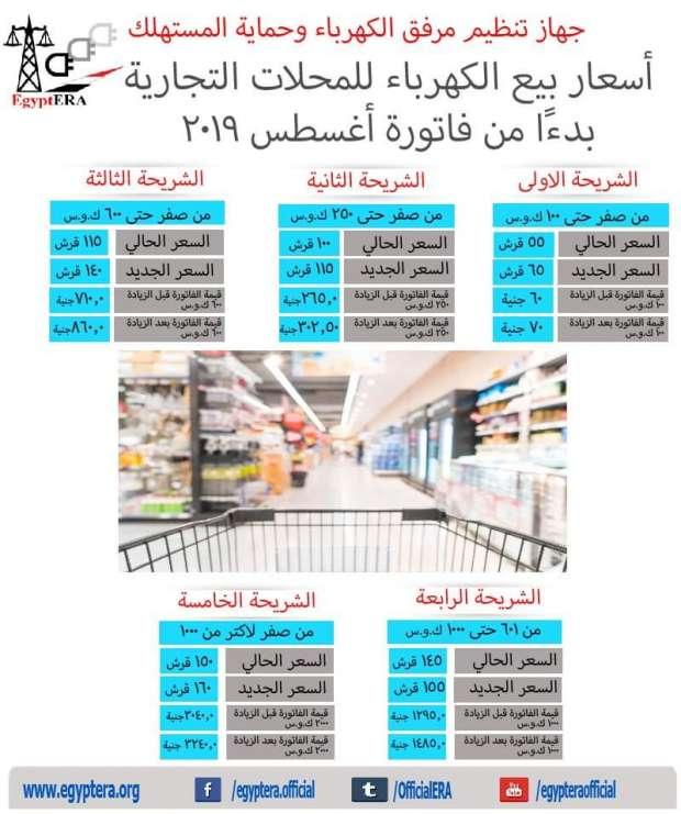 اسعار شرائح الكهرباء الجديدة تجاري
