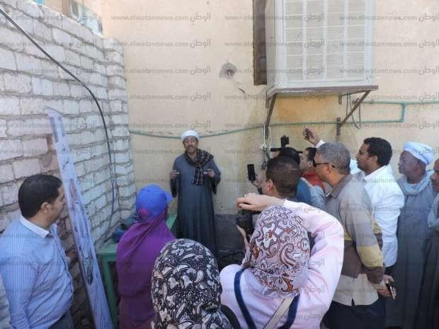 بالصور| افتتاح 4 وحدات بيوجاز بقرية الترامسة في قنا