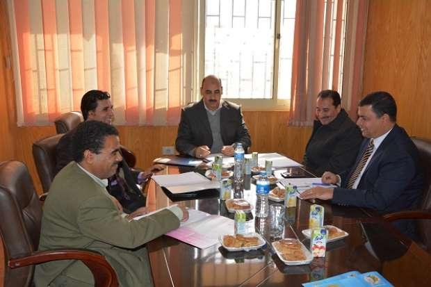 اجتماع مجلس معهد البحوث لدول حوض النيل بجامعة الفيوم