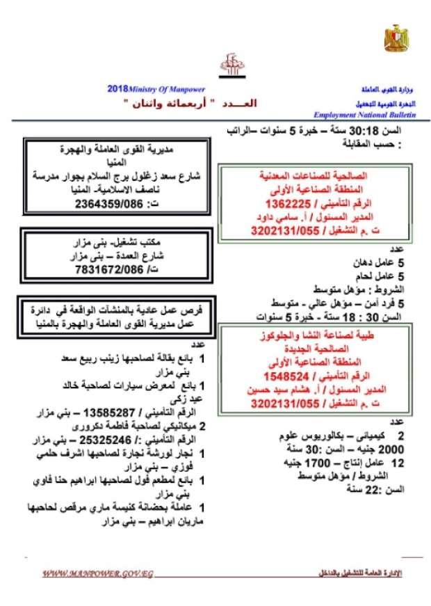 مرتبات تصل لـ 8 الآف جنيه.. الحكومة تعلن عن 11 ألف وظيفة شاغرة للشباب بمختلف المؤهلات 14