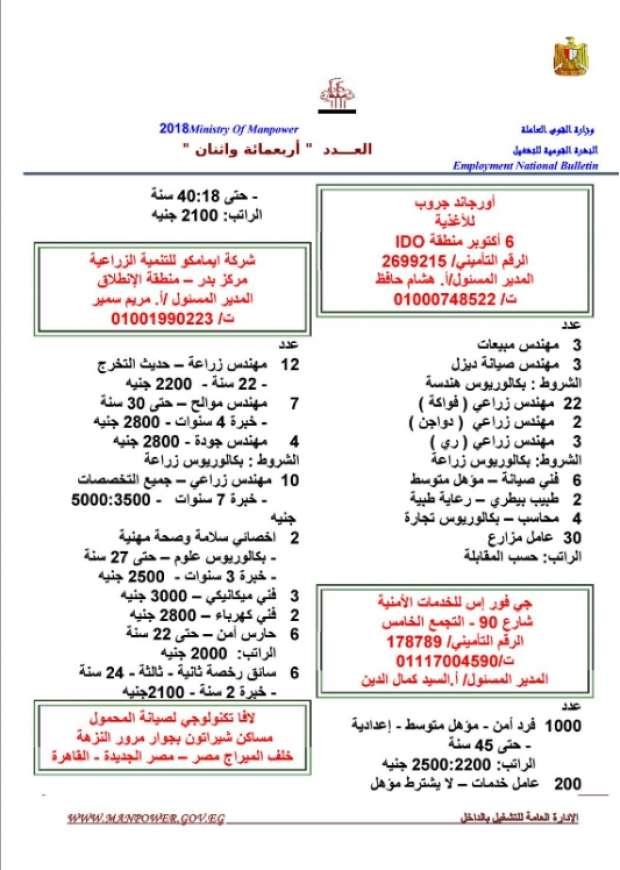 مرتبات تصل لـ 8 الآف جنيه.. الحكومة تعلن عن 11 ألف وظيفة شاغرة للشباب بمختلف المؤهلات 5
