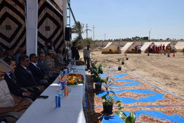 رئيس أركان قوات الدفاع الشعبي ومحافظ بني سويف يتفقدان معسكر الإيواء