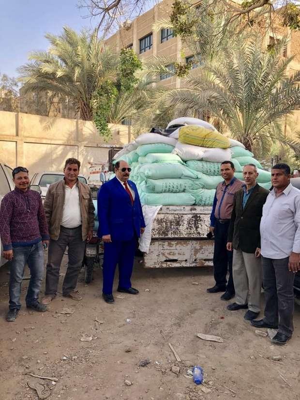 """""""تموين الفيوم"""": ضبط 8 أطنان دقيق بلدي مدعم قبل بيعه بالسوق السوداء"""