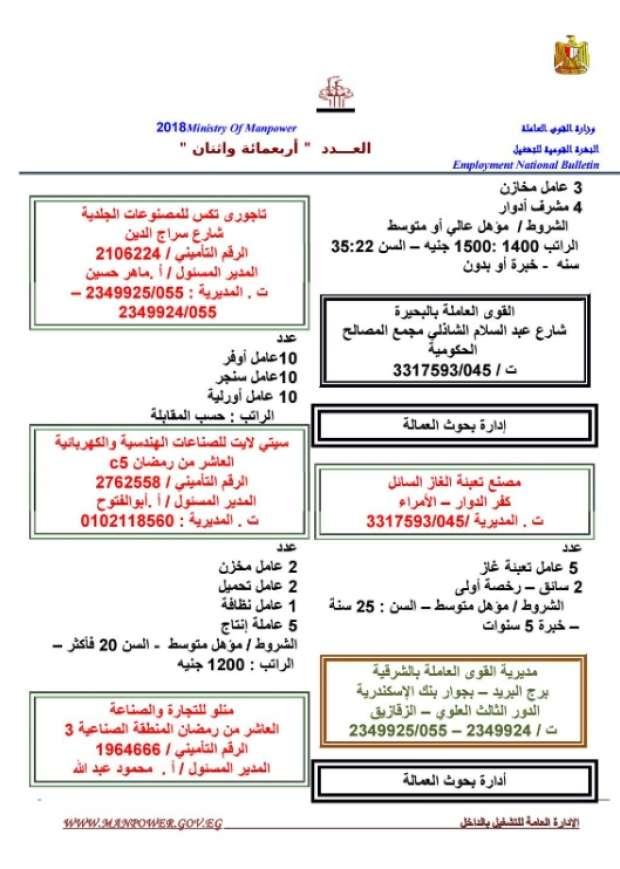 مرتبات تصل لـ 8 الآف جنيه.. الحكومة تعلن عن 11 ألف وظيفة شاغرة للشباب بمختلف المؤهلات 12