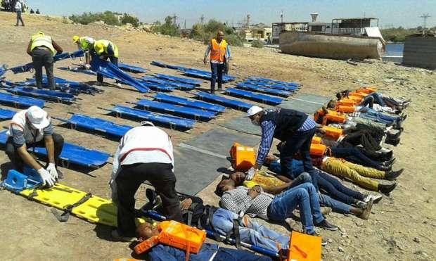 تجربة طوارئ في مطار أسوان للتعامل مع سقوط طائرة ركاب ببحيرة ناصر