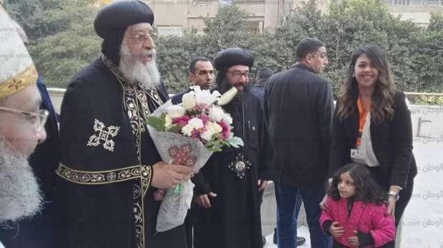 بالصور| البابا يشهد احتفال اليوبيل الذهبي لكنيسة مارجرجس بالمنيل