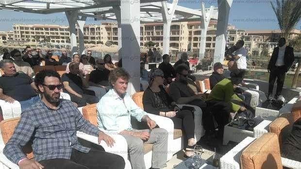 بالصور| مؤتمر صحفي لإقامة أكبر سيمبوزيوم للنحت في مدينة الغردقة