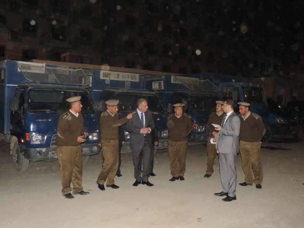 بالصور| مدير أمن الفيوم يتفقد قوات النجدة وقسم شرطة المركبات