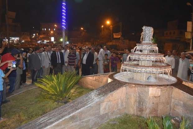 بالصور  افتتاح أعمال تطوير ميدان الحواتم في مدينة الفيوم