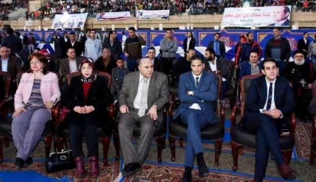 محمد فؤاد يحيي احتفالية باستاد الشرقية لدعم ترشح السيسي لفترة ثانية