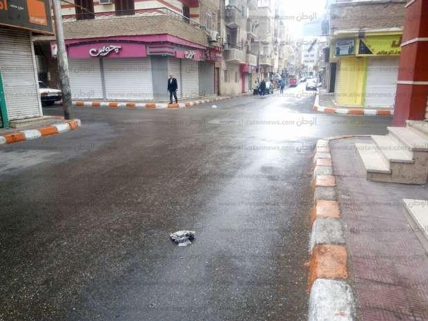 بالصور  خلو الشوارع والميادين من المارة بقنا بسبب سقوط الأمطار