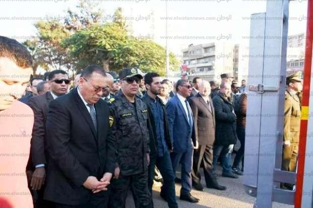تشييع جثمان الرائد الشهيد شريف طلعت في الشرقية