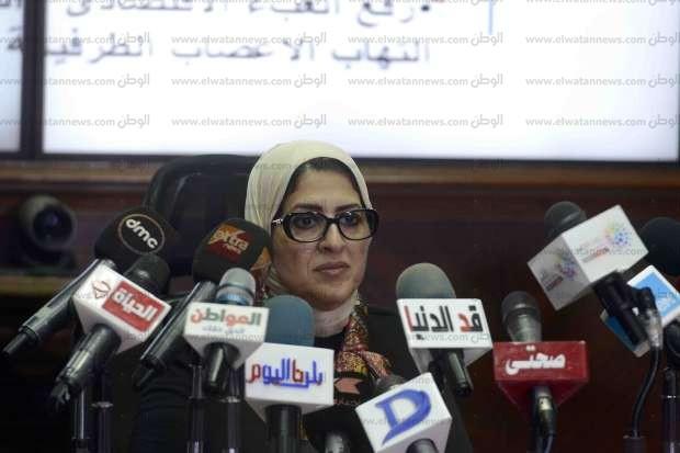 بالصور| وزيرة الصحة: حملة التهاب الأطراف العصبية تستهدف 200 ألف مواطن