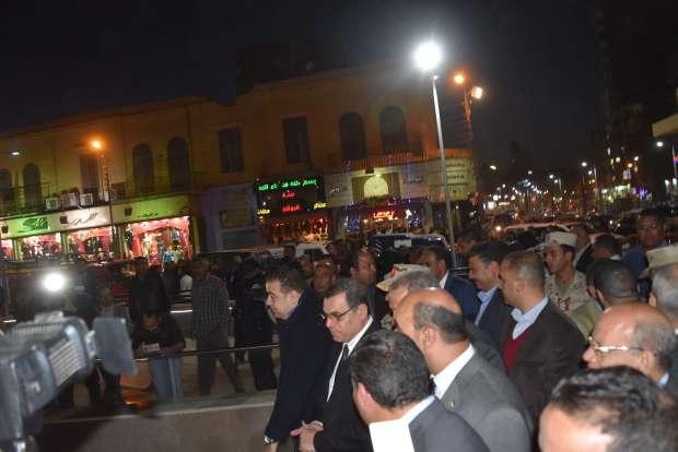 بالصور| افتتاح ميدان السواقي بعد تجديده في الفيوم