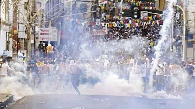 مظاهرات معارضة لإقامة مباريات كأس العالم في البرازيل