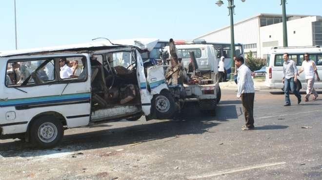 حادث مروع على الطريق الصحراوي بالمنيا.. والحصيلة الأولية 9 قتلى و25 مصابا