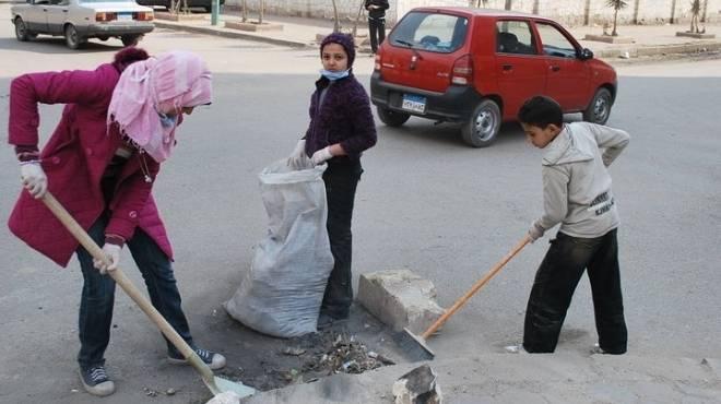 حملة تنقذ الشوارع من الإهمال: تنظيف وتجميل ورصف وزرع