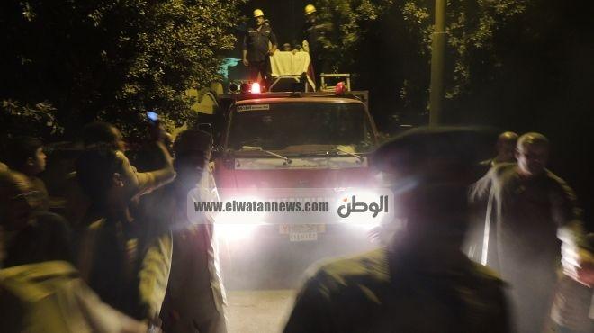 تشييع جثمان أحمد محسن أحد شهداء حادث الشيخ زويد من مسجد برأس غارب
