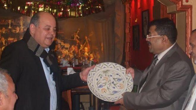 عرب يلتقى وزير الثقافة اليمنى ويجدد بروتوكولات التعاون بين البلدين