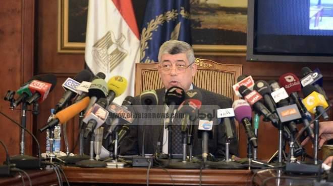 وزير الداخلية يبعث برقيات تهنئة لمنصوروالببلاوي والسيسي بمناسبة المولد النبوي الشريف