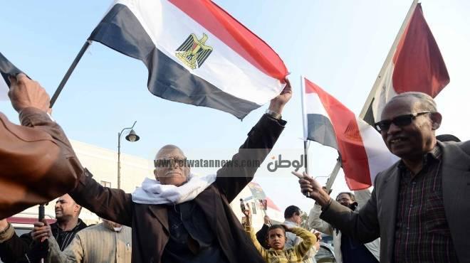 مسيرة حاشدة بقرية شطانوف لتأييد الدستور