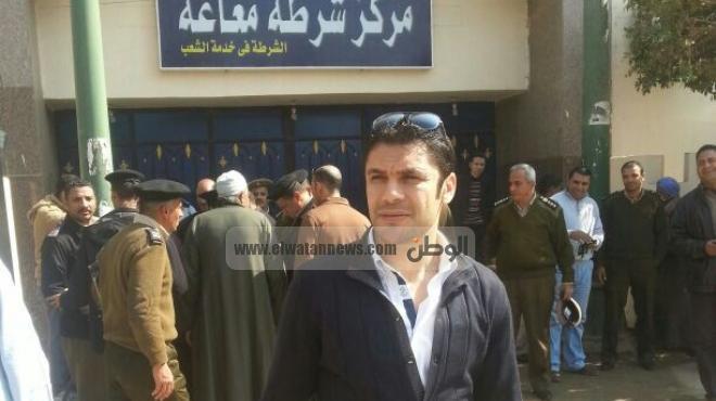 بالصور| أحمد حسن يشارك أجهزة الامن في افتتاح مركز شرطة مغاغة