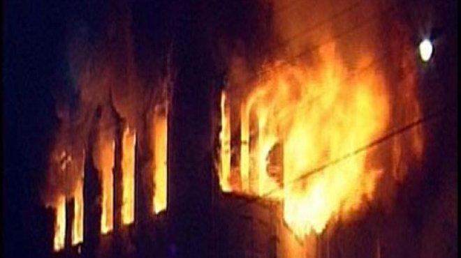السيطرة على الحريق بالطابقين الثامن والتاسع بوزارة الرياضة والنار تلتهم العاشر
