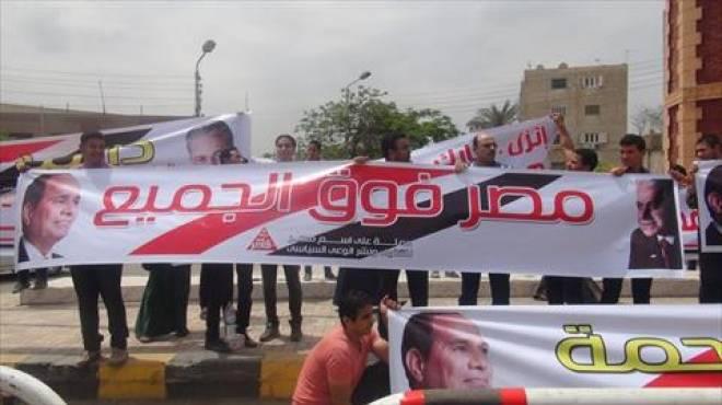 معركة المحافظات: حملة «السيسى» تواصل فعاليات «استعراض القوة» وتستنكر تمزيق لافتات «صباحى» فى البحر الأحمر