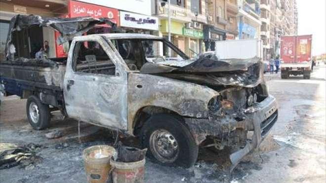 حبكت مع الإخوان.. حرقوا سيارة الشرطة أمام محطة بنزين «بدل الكارثة اتنين»