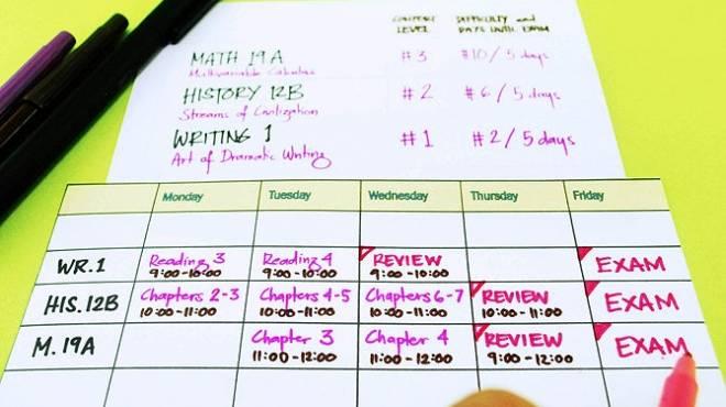 جدول المذاكرة والاسترخاء وتنظيم النوم نصائح هامة لطلاب الثانوية العامة الوطن
