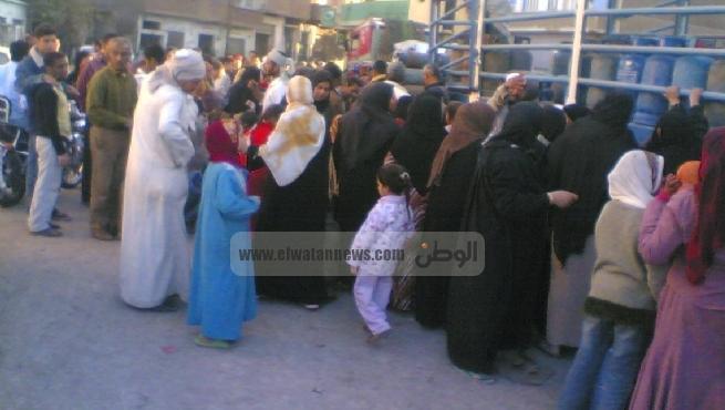 احتجاجات قروية ضد نقص إسطوانات البوتاجاز بالفيوم