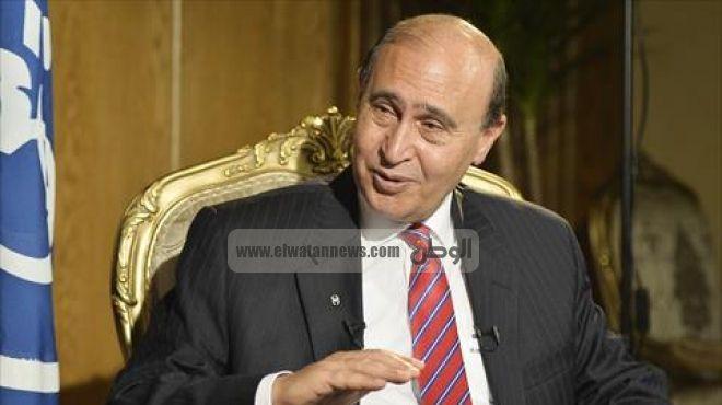 الفريق مهاب مميش يستقبل نائب رئيس قناة