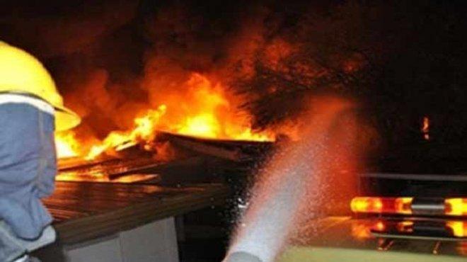 عاجل| اندلاع النيران في بعض أجزاء الكتيبة