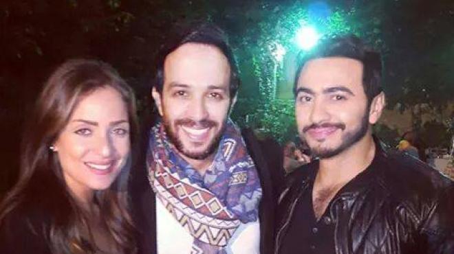 أحمد عصام يحتفل بعيد ميلاده بحضور تامر حسني وريم البارودي