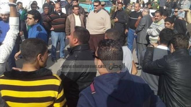 طلاب جامعة الإسكندرية يتظاهرون ضد براءة