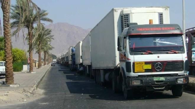 ضبط 251 سيارة محملة بالبضائع قبل خروجها من بورسعيد دون سداد الرسوم الجمركية