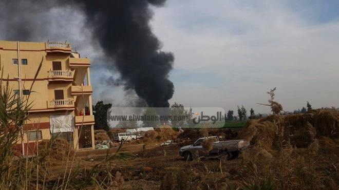 السيطرة على الحريق الهائل بخط المواد البترولية في كفر الدوار